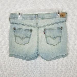 Levi's 515 Jean Shorts 6 Light Wash Denim 3 Inch